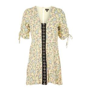 Topshop Floral Hook Dress Size 4. Never worn!